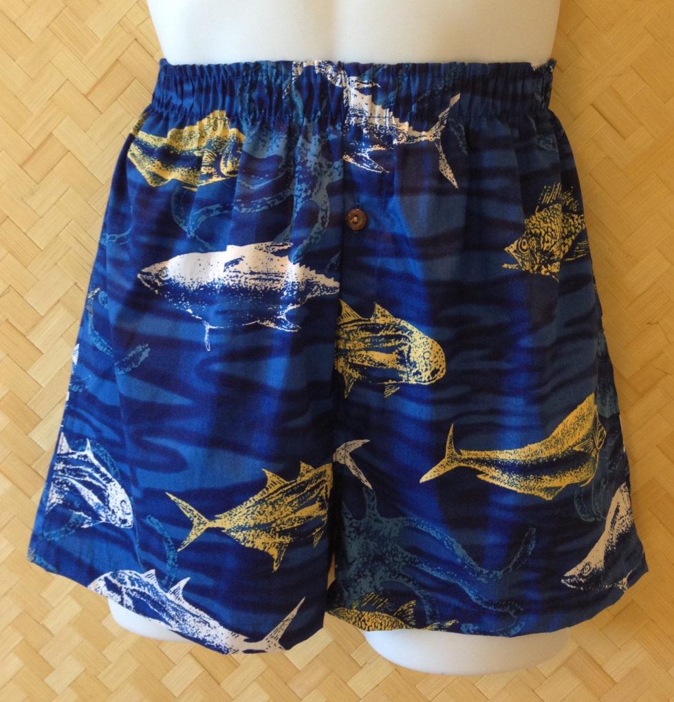 Gyotaku Blue Kane Boxers